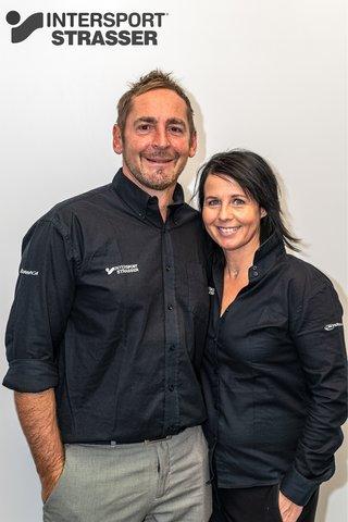[Translate to Englisch:] Simone & Patrick Strasser / Intersport Strasser